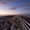 Morecambe promenade at sunset