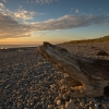 Sunset on Silecroft beach