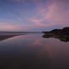 Heysham beach at sunset