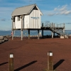 Yacht club house at Morecambe