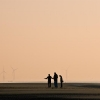 Walkers on Formby Beach